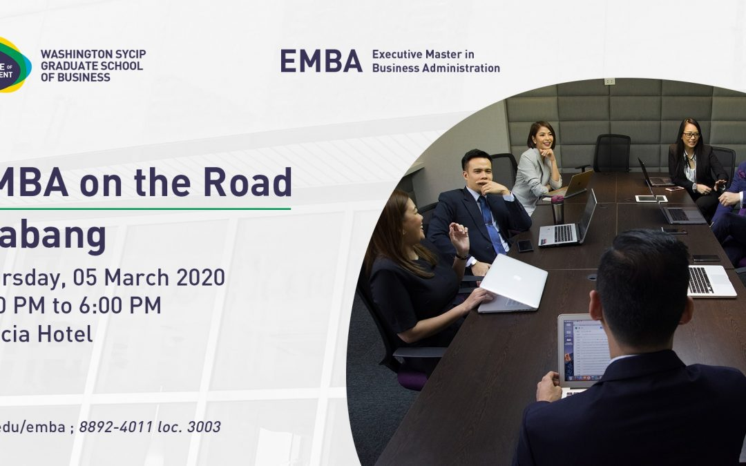 EMBA on the road  | Alabang