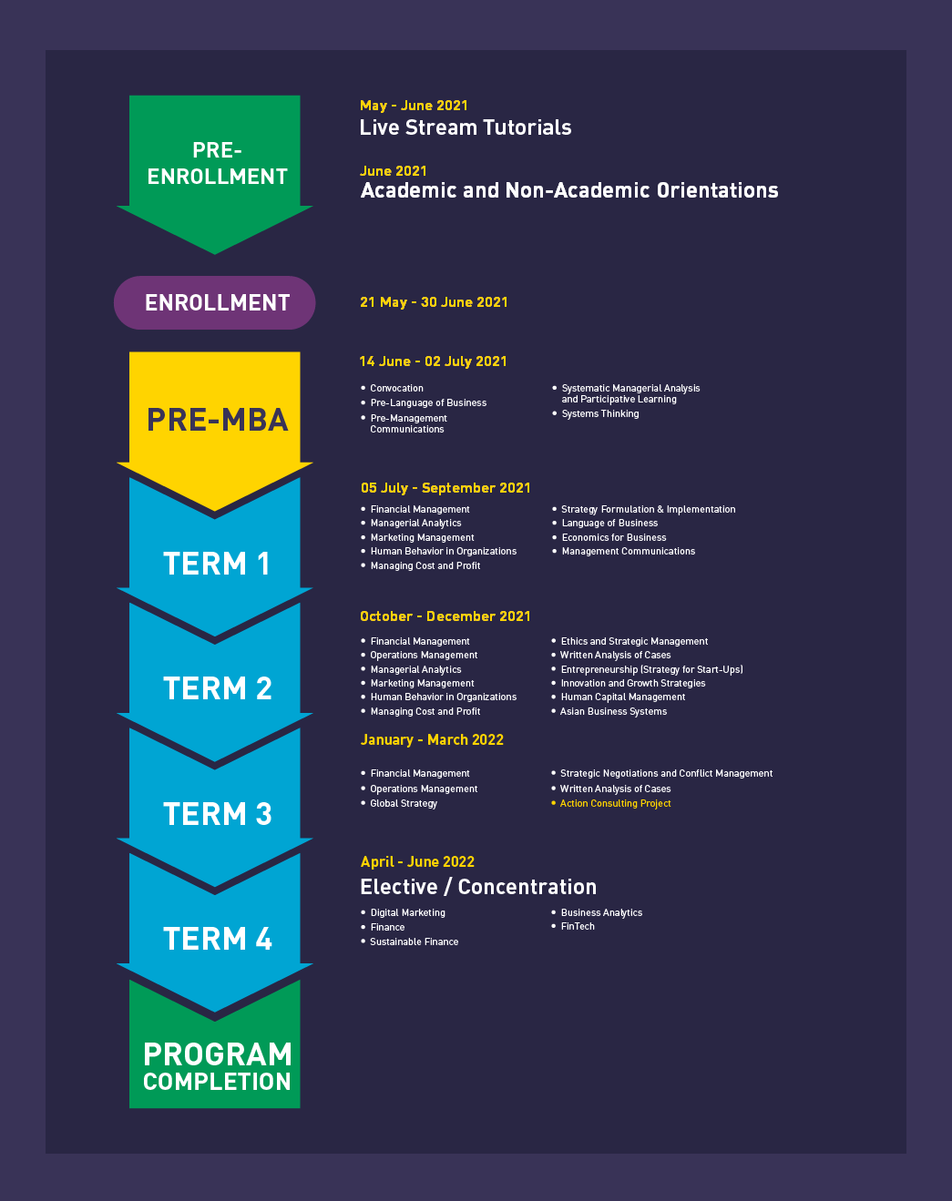 Academic Experience Infographics